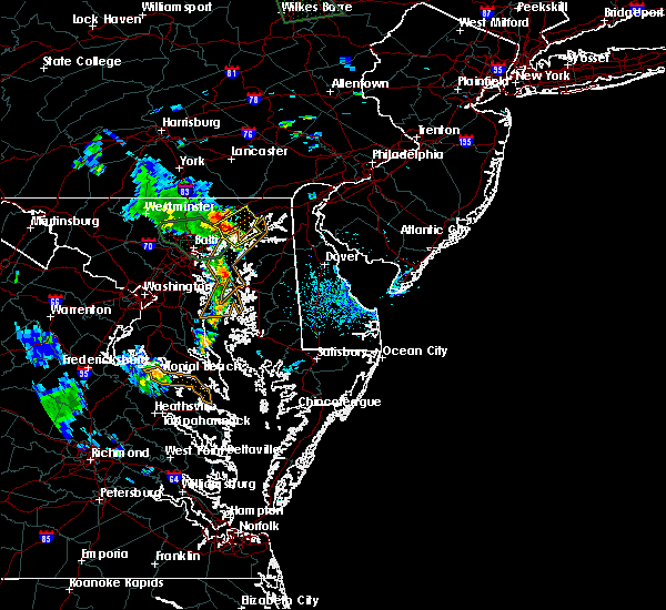 Radar Image for Severe Thunderstorms near Riverside, MD at 8/13/2018 6:53 PM EDT