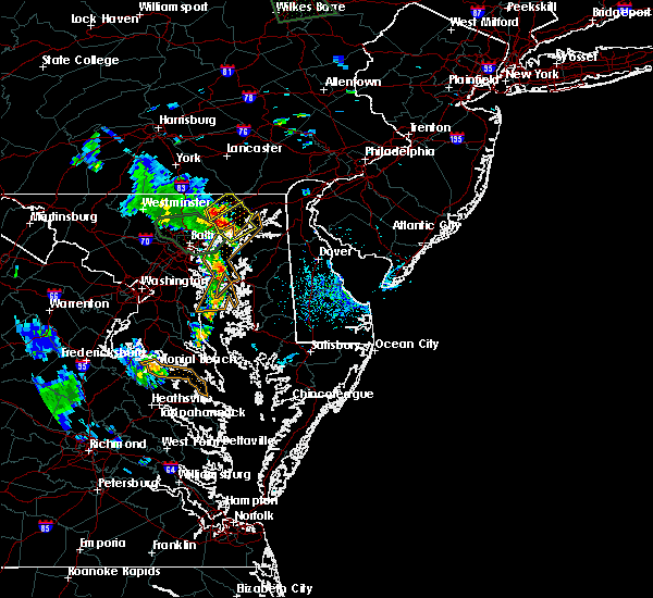 Radar Image for Severe Thunderstorms near Bel Air North, MD at 8/13/2018 6:58 PM EDT