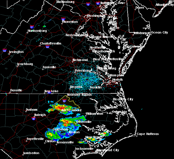 Radar Image for Severe Thunderstorms near Hollister, NC at 8/14/2018 2:50 PM EDT