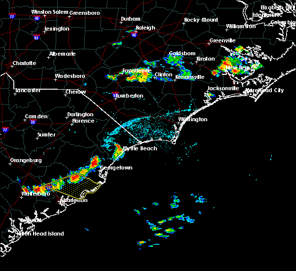 Radar Image for Severe Thunderstorms near Charleston, SC at 8/14/2018 4:46 PM EDT