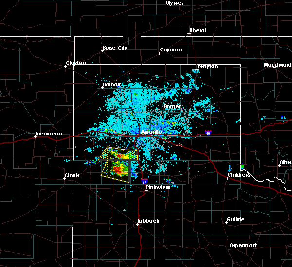 Radar Image for Severe Thunderstorms near Dimmitt, TX at 8/14/2018 9:19 PM CDT