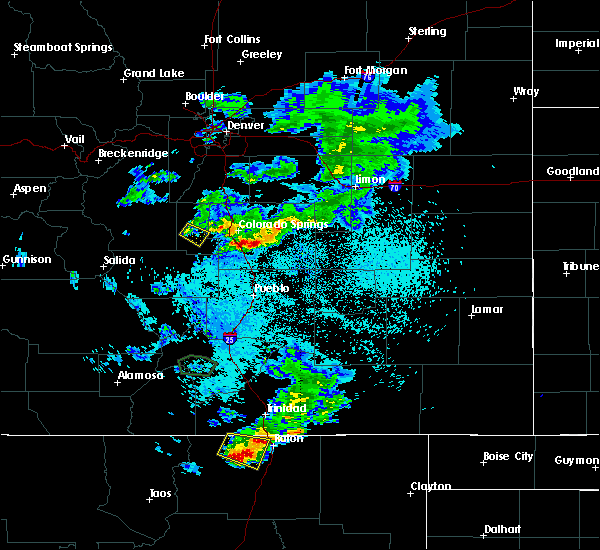 Radar Image for Severe Thunderstorms near Midland, CO at 8/14/2018 9:17 PM MDT