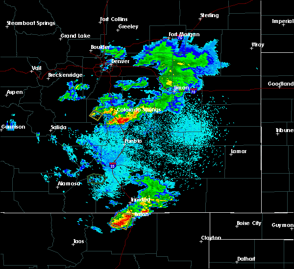 Radar Image for Severe Thunderstorms near Midland, CO at 8/14/2018 9:26 PM MDT