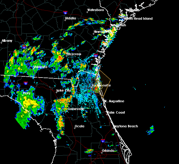 Radar Image for Severe Thunderstorms near Palm Valley, FL at 8/15/2018 3:53 PM EDT