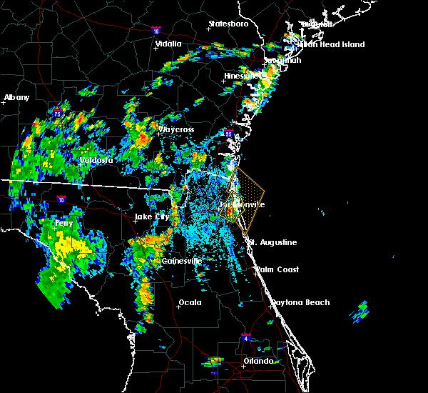Radar Image for Severe Thunderstorms near Jacksonville, FL at 8/15/2018 3:53 PM EDT