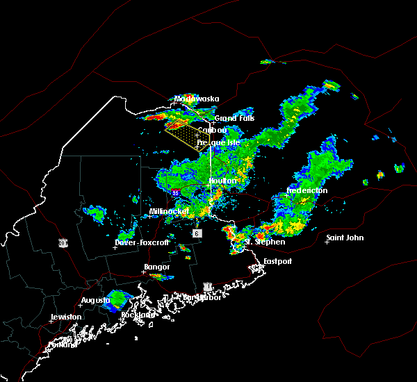 Radar Image for Severe Thunderstorms near Presque Isle, ME at 8/15/2018 5:21 PM EDT