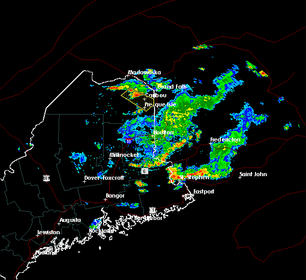 Radar Image for Severe Thunderstorms near Presque Isle, ME at 8/15/2018 5:46 PM EDT