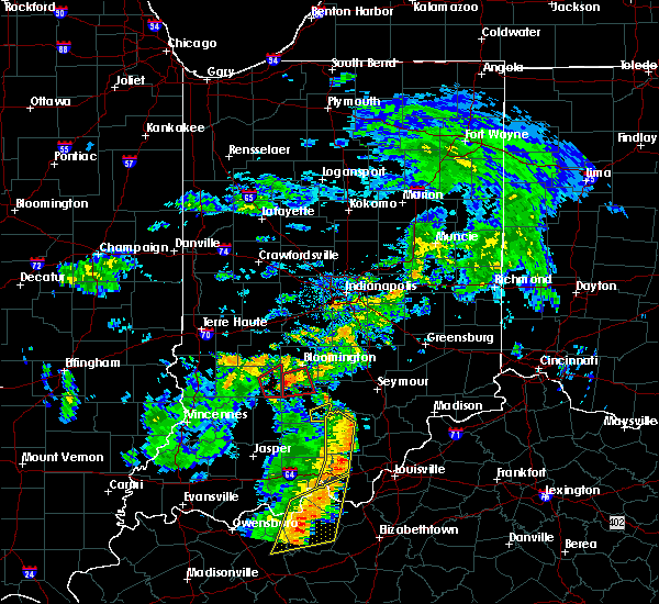 Radar Image for Severe Thunderstorms near Owensburg, IN at 8/15/2018 7:44 PM EDT