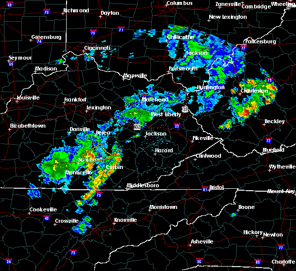 Radar Image for Severe Thunderstorms near Mount Vernon, KY at 8/16/2018 3:57 PM EDT