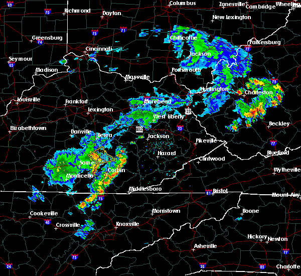 Radar Image for Severe Thunderstorms near Mount Vernon, KY at 8/16/2018 4:10 PM EDT