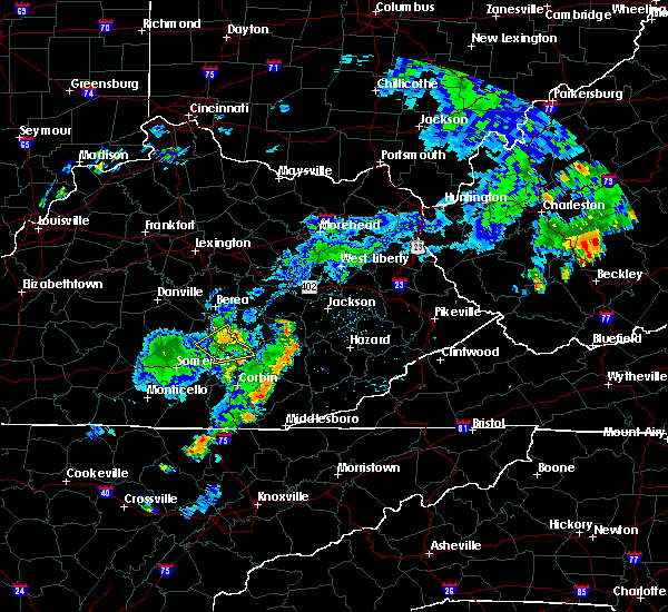 Radar Image for Severe Thunderstorms near Mount Vernon, KY at 8/16/2018 4:28 PM EDT