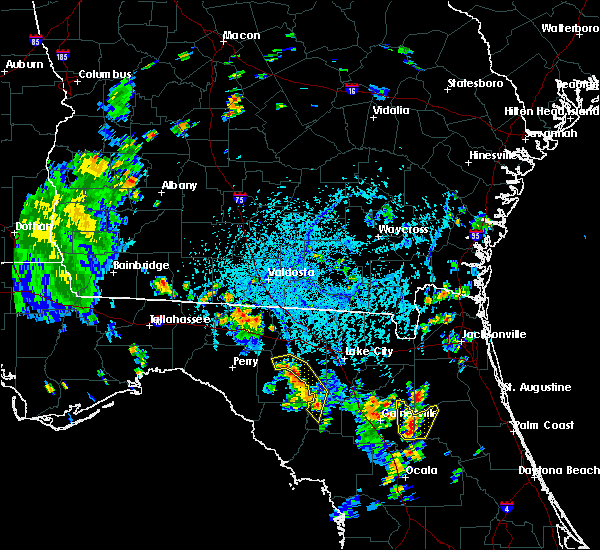 Radar Image for Severe Thunderstorms near Branford, FL at 8/16/2018 4:50 PM EDT