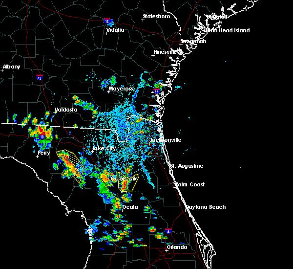 Radar Image for Severe Thunderstorms near Waldo, FL at 8/16/2018 4:50 PM EDT