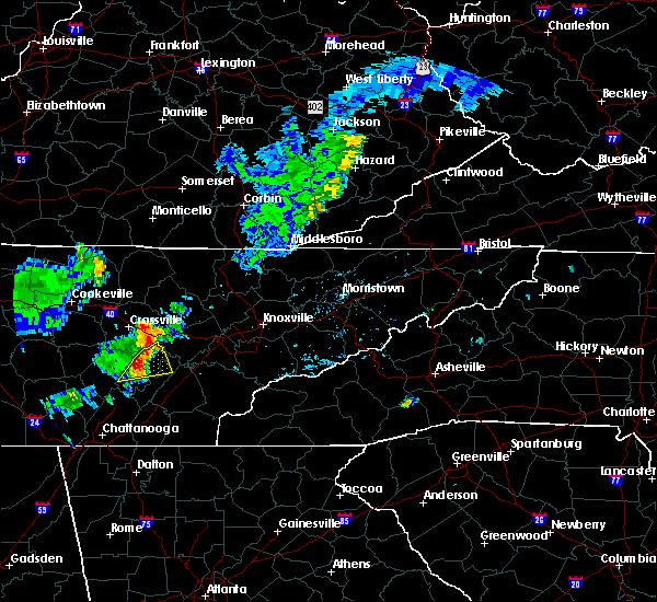 Radar Image for Severe Thunderstorms near Dayton, TN at 8/16/2018 5:22 PM EDT