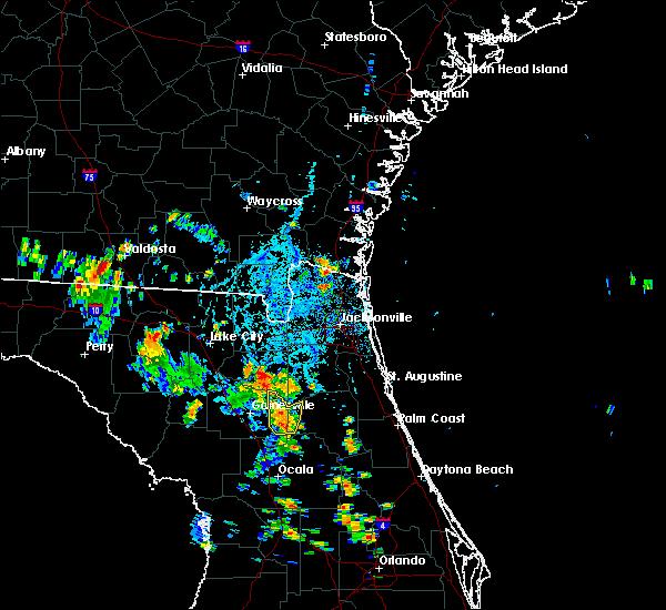 Radar Image for Severe Thunderstorms near Waldo, FL at 8/16/2018 5:25 PM EDT