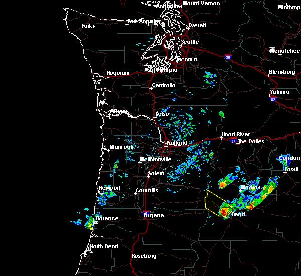 Radar Image for Severe Thunderstorms near Eagle Crest, OR at 8/16/2018 5:50 PM PDT