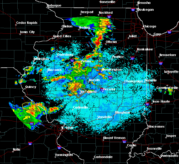 Radar Image for Severe Thunderstorms near Rochester, IL at 8/16/2018 10:30 PM CDT