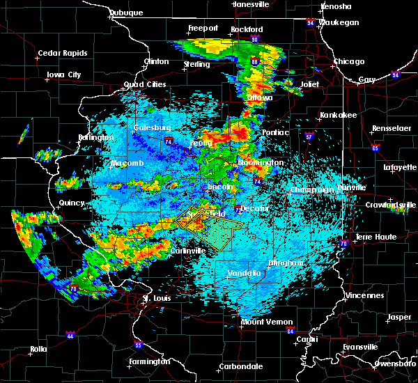 Radar Image for Severe Thunderstorms near Rochester, IL at 8/16/2018 11:13 PM CDT