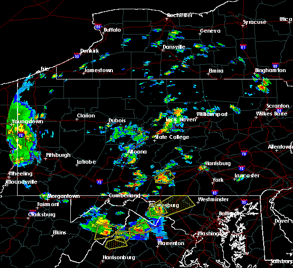 Radar Image for Severe Thunderstorms near Orrstown, PA at 8/17/2018 3:49 PM EDT