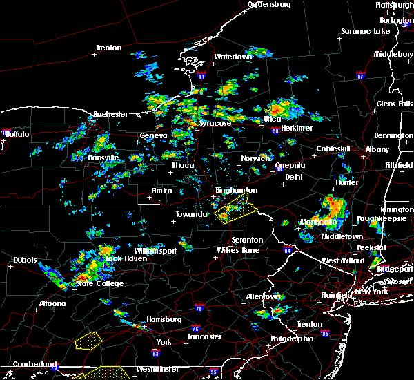 Radar Image for Severe Thunderstorms near Oakland, PA at 8/17/2018 3:52 PM EDT