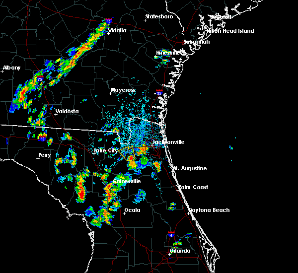Radar Image for Severe Thunderstorms near Jacksonville, FL at 8/17/2018 3:55 PM EDT