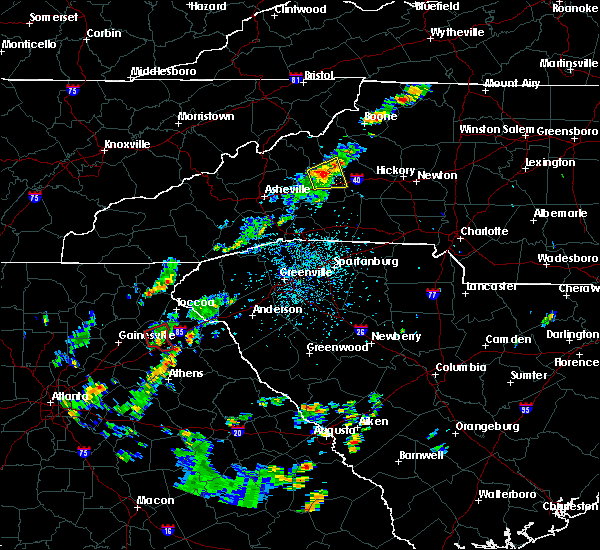 Radar Image for Severe Thunderstorms near Commerce, GA at 8/17/2018 3:55 PM EDT