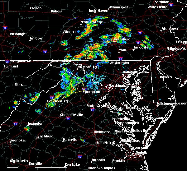 Radar Image for Severe Thunderstorms near Marshall, VA at 8/17/2018 5:04 PM EDT