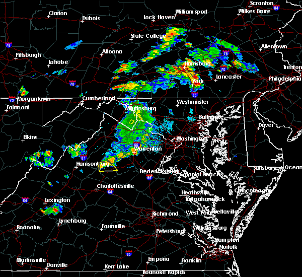Radar Image for Severe Thunderstorms near Brightwood, VA at 8/17/2018 5:53 PM EDT