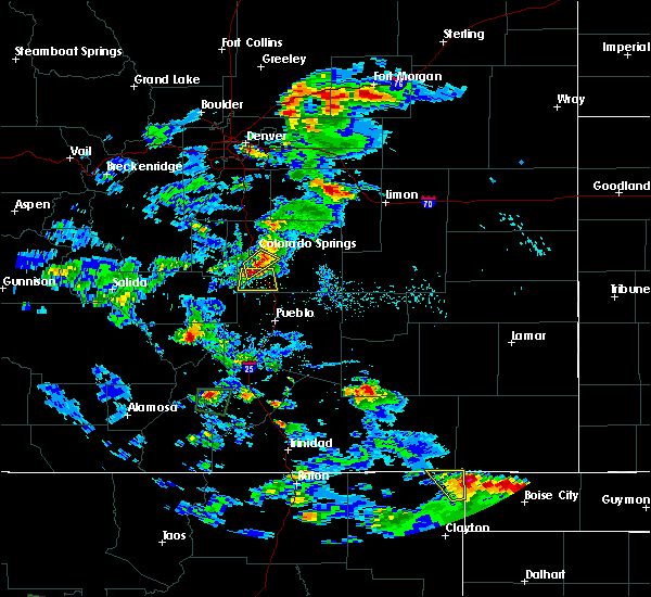 Radar Image for Severe Thunderstorms near Security-Widefield, CO at 8/17/2018 4:06 PM MDT