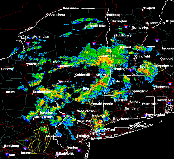 Radar Image for Severe Thunderstorms near Kingston, NY at 8/17/2018 7:35 PM EDT