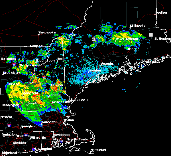 Radar Image for Severe Thunderstorms near Milton Mills, NH at 8/17/2018 9:01 PM EDT