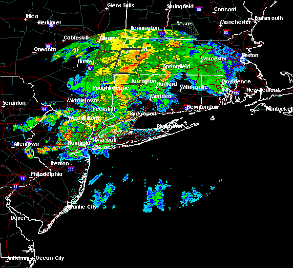 Radar Image for Severe Thunderstorms near Waterbury, CT at 8/17/2018 10:42 PM EDT