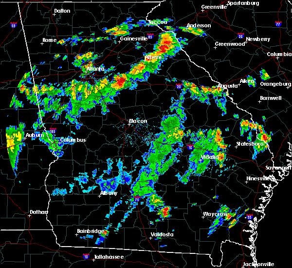 Radar Image for Severe Thunderstorms near Rutledge, GA at 8/18/2018 6:08 PM EDT