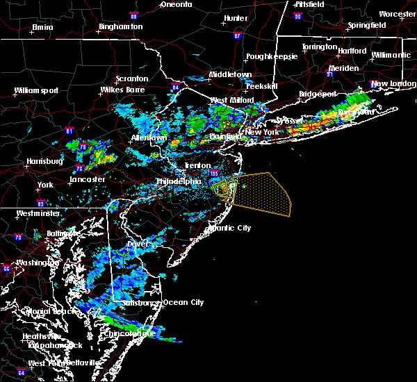 Radar Image for Severe Thunderstorms near Silver Ridge, NJ at 8/18/2018 6:56 PM EDT