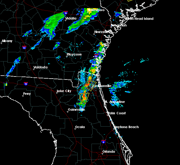Radar Image for Severe Thunderstorms near Jacksonville, FL at 8/18/2018 7:44 PM EDT