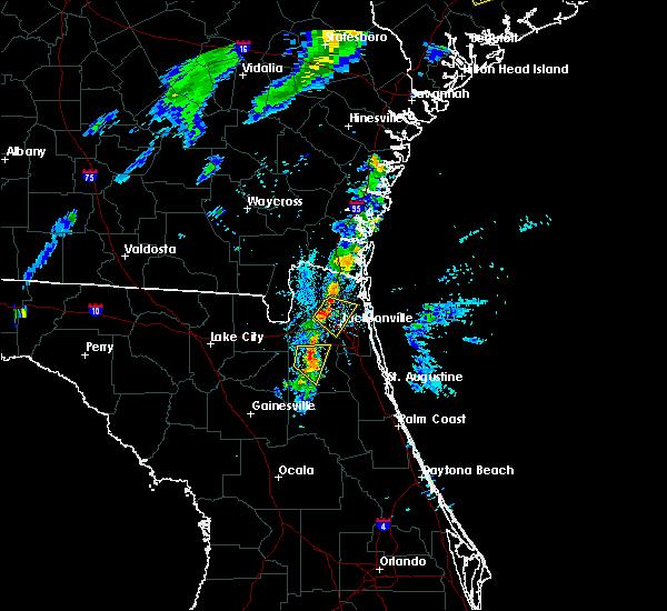 Radar Image for Severe Thunderstorms near Nassau Village-Ratliff, FL at 8/18/2018 7:44 PM EDT
