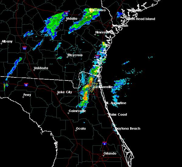 Radar Image for Severe Thunderstorms near Jacksonville, FL at 8/18/2018 8:07 PM EDT