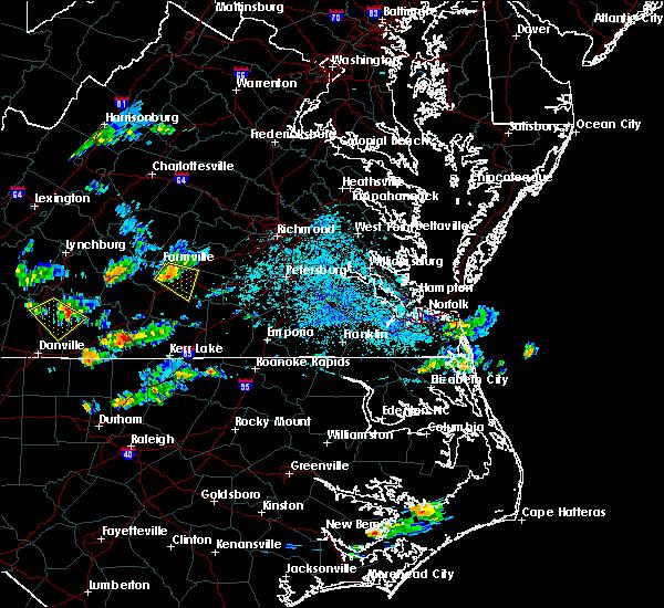Radar Image for Severe Thunderstorms near Farmville, VA at 8/19/2018 5:26 PM EDT