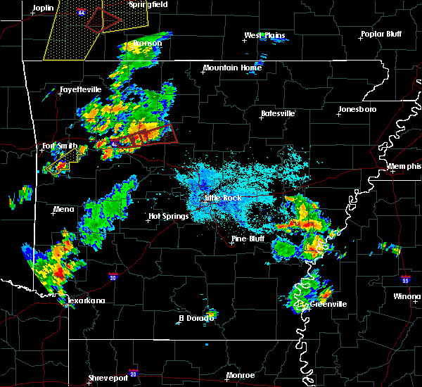 Radar Image for Severe Thunderstorms near Hector, AR at 8/19/2018 6:54 PM CDT