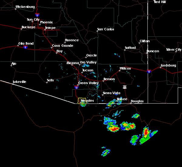 Radar Image for Severe Thunderstorms near Beyerville, AZ at 8/19/2018 5:40 PM MST