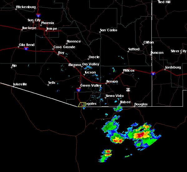 Radar Image for Severe Thunderstorms near Beyerville, AZ at 8/19/2018 6:27 PM MST