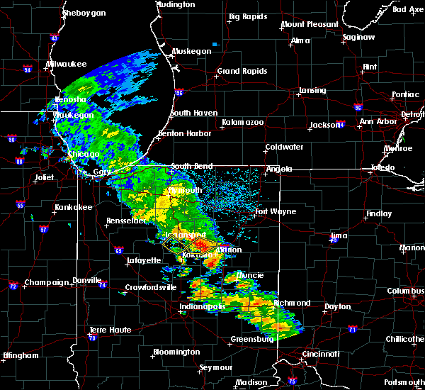 Radar Image for Severe Thunderstorms near Onward, IN at 8/20/2018 3:11 PM EDT