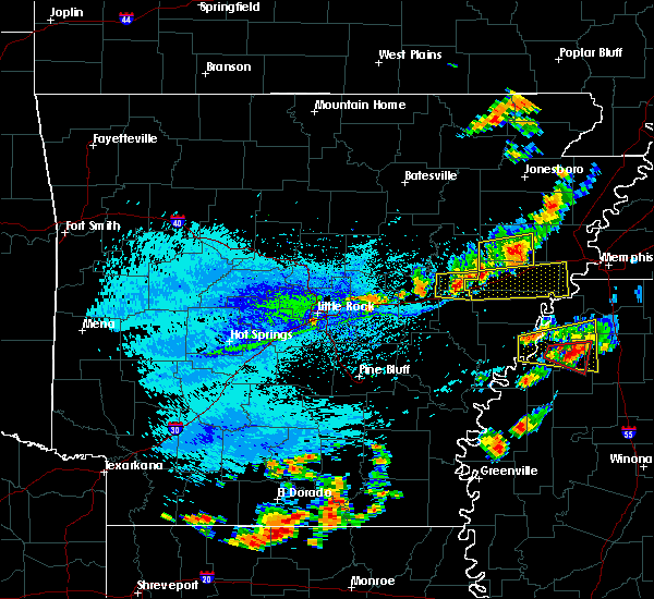 Radar Image for Severe Thunderstorms near Brinkley, AR at 8/20/2018 4:58 PM CDT
