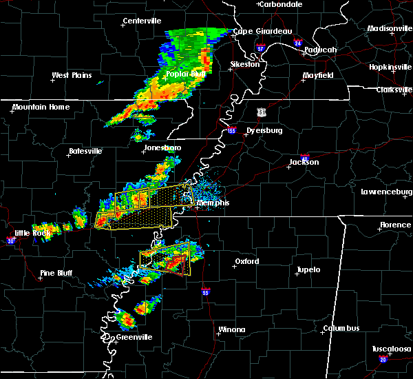 Radar Image for Severe Thunderstorms near West Memphis, AR at 8/20/2018 5:00 PM CDT