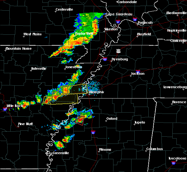 Radar Image for Severe Thunderstorms near West Memphis, AR at 8/20/2018 5:04 PM CDT