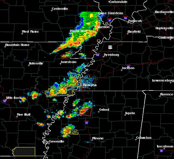 Radar Image for Severe Thunderstorms near West Memphis, AR at 8/20/2018 5:37 PM CDT