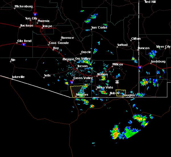Radar Image for Severe Thunderstorms near Douglas, AZ at 8/20/2018 4:00 PM MST