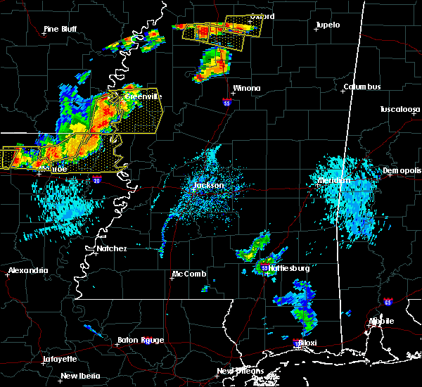 Radar Image for Severe Thunderstorms near Inverness, MS at 8/20/2018 6:31 PM CDT