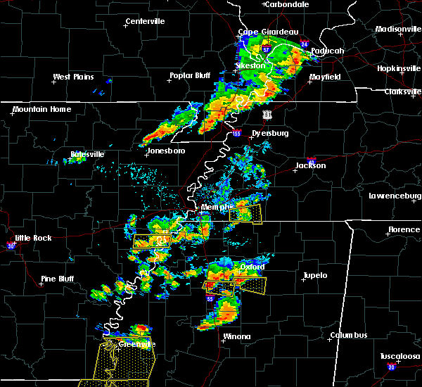 Radar Image for Severe Thunderstorms near Pope, MS at 8/20/2018 6:53 PM CDT