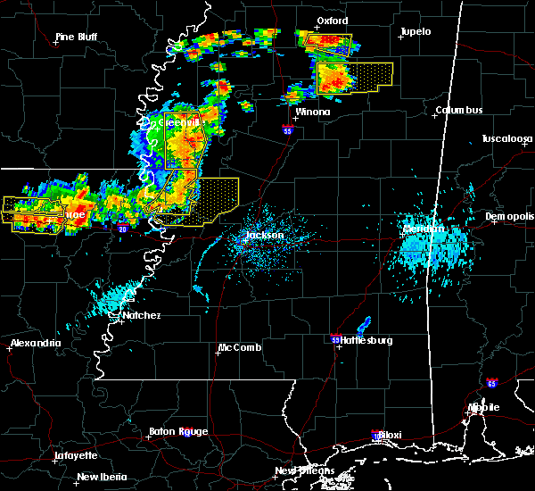 Radar Image for Severe Thunderstorms near Inverness, MS at 8/20/2018 7:21 PM CDT